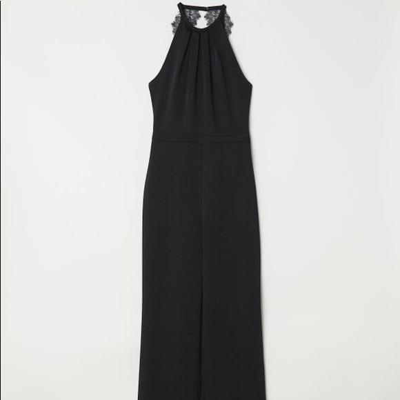 412888160b5 H M wedding collection Black Jumpsuit open back